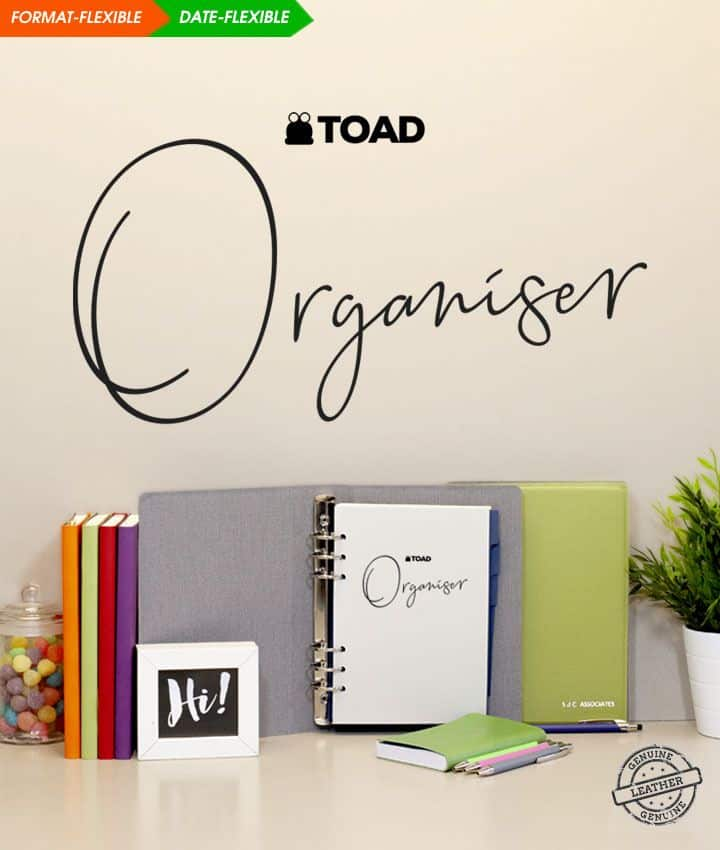 TOAD diaries personlaised stationary