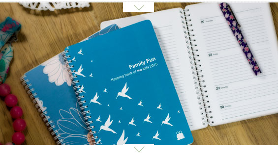personalised family fun planner TOAD diaries