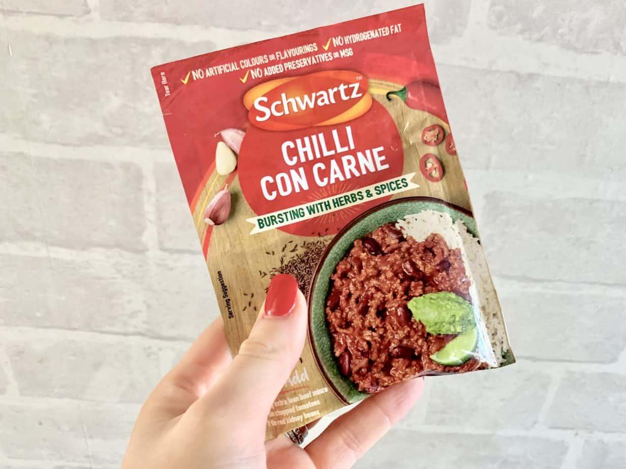 Schwartz chilli con carne sachet mix