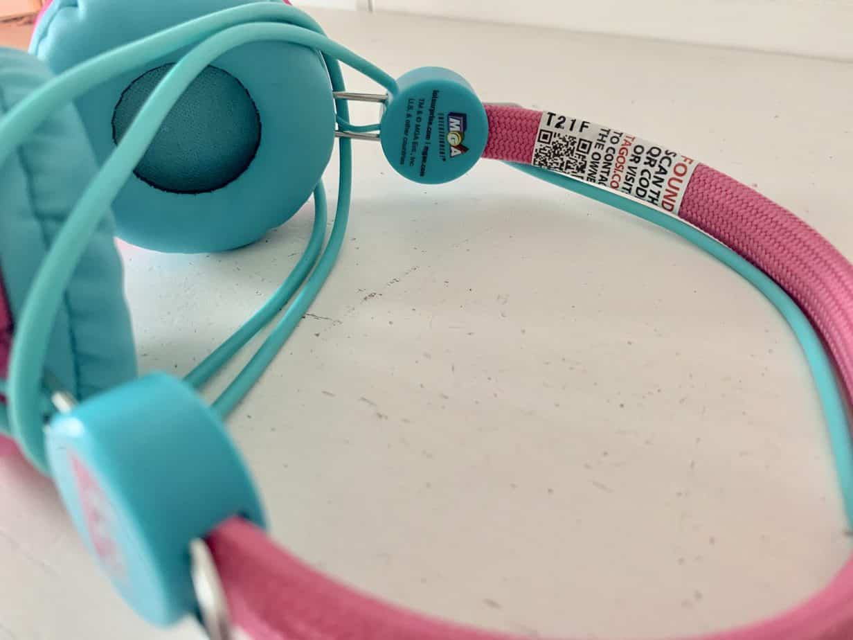 Headphones with the Tagosi sticker used