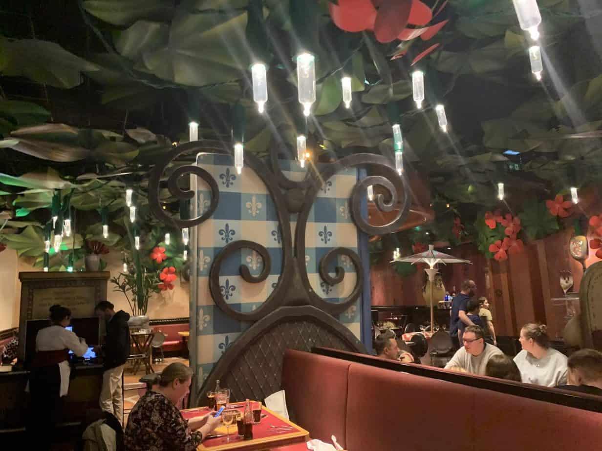 Interior inside Bistro Chez Remy Restaurant Disneyland Paris