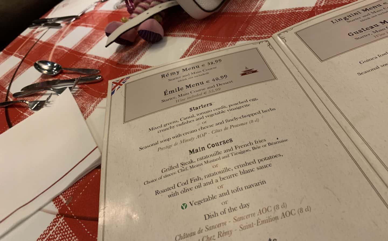 Bistro Chez Remy Emile Menu Plus dining plan