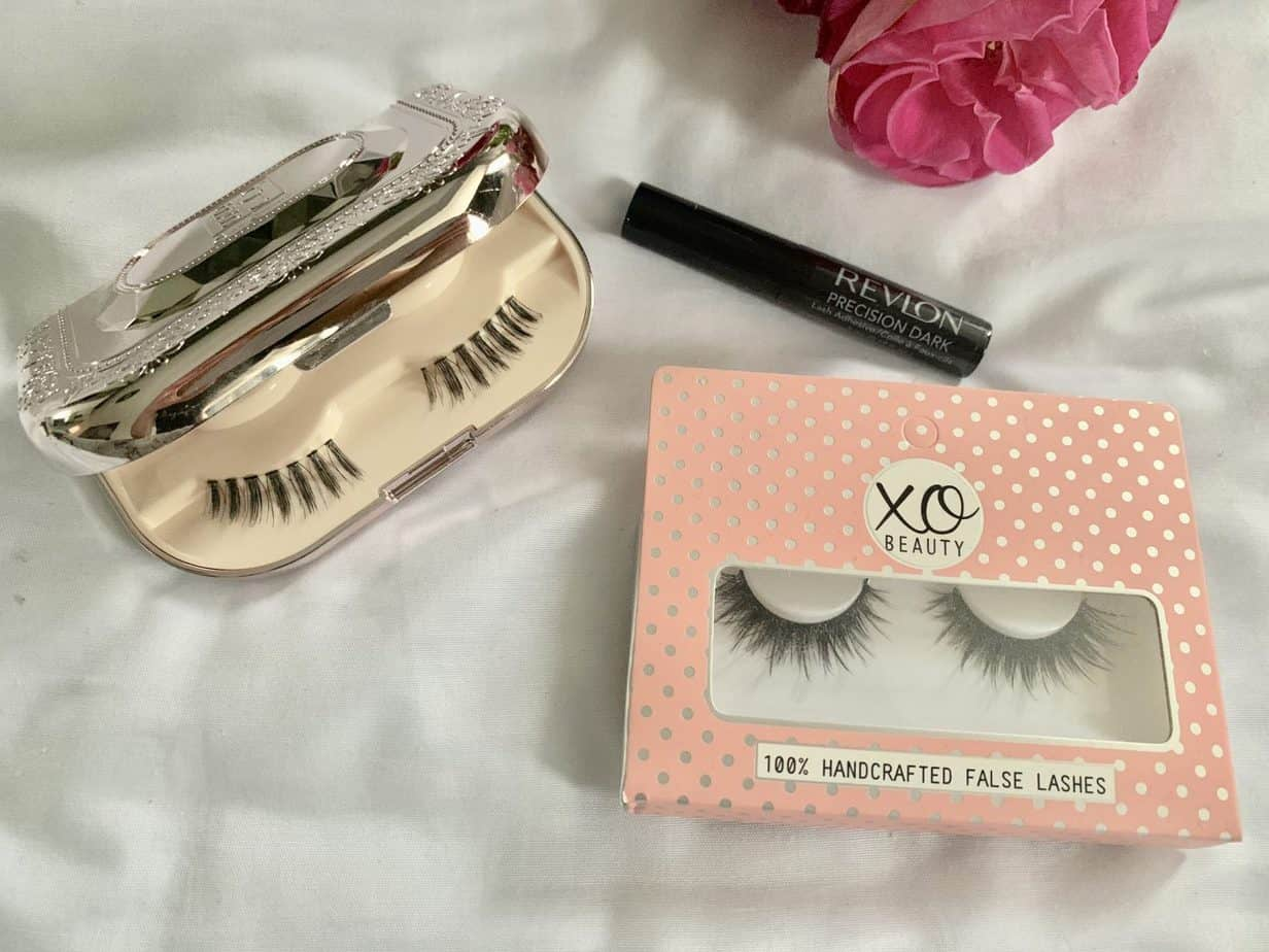 False lashes case and revlon lash glue