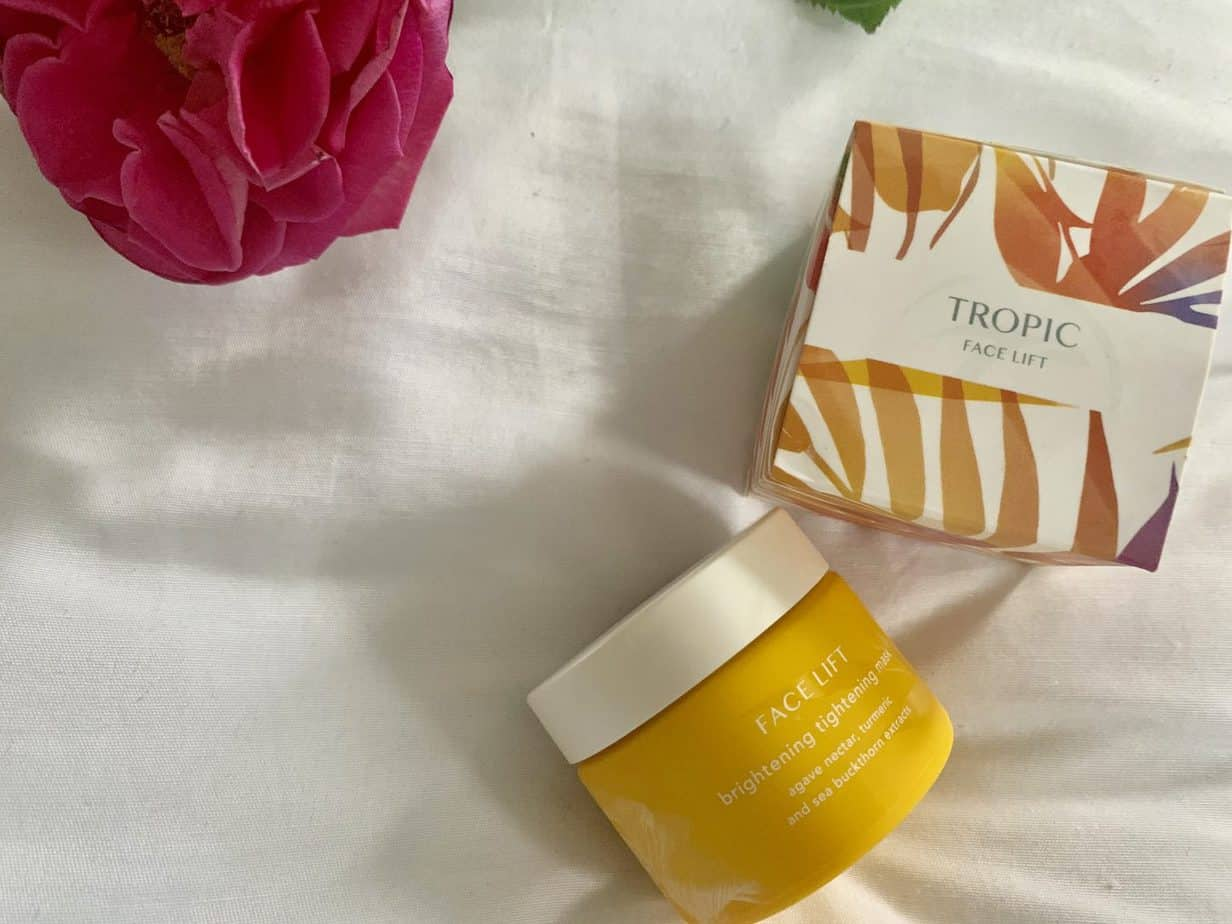 Tropic brightening tightening mask faveourite beauty products this season