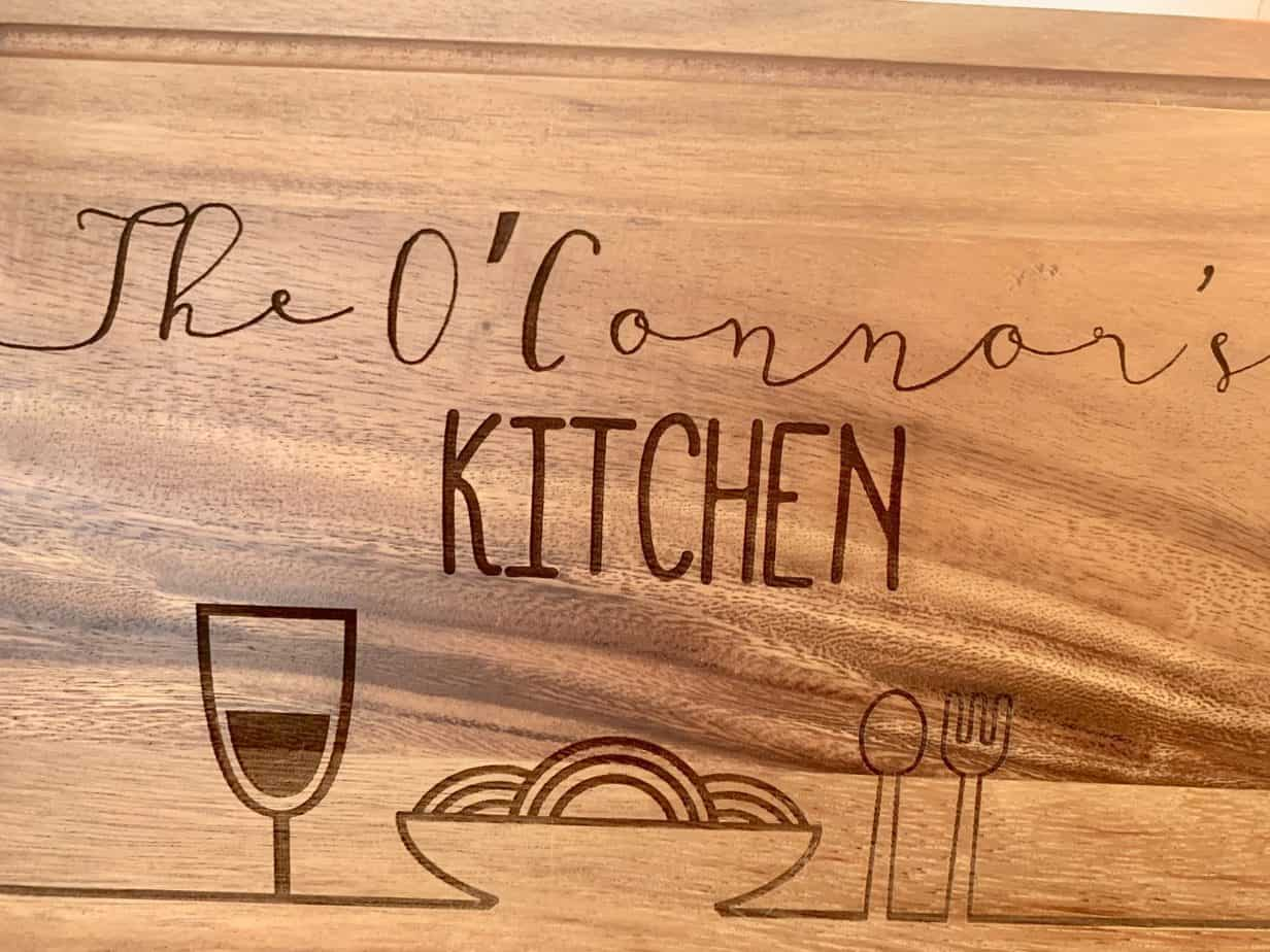 unique bespoke chopping board