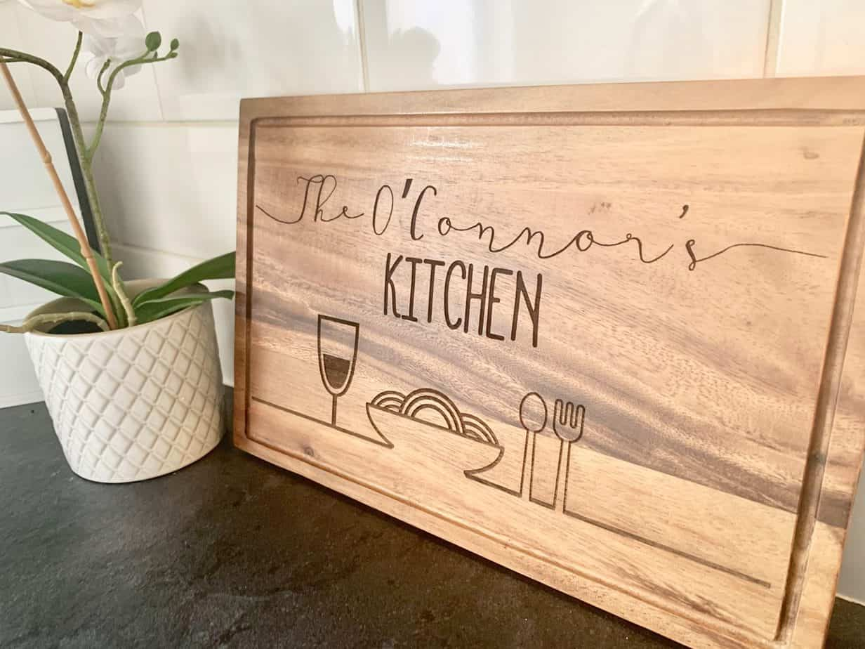 tailor made personalised chopping board personalised gifts market