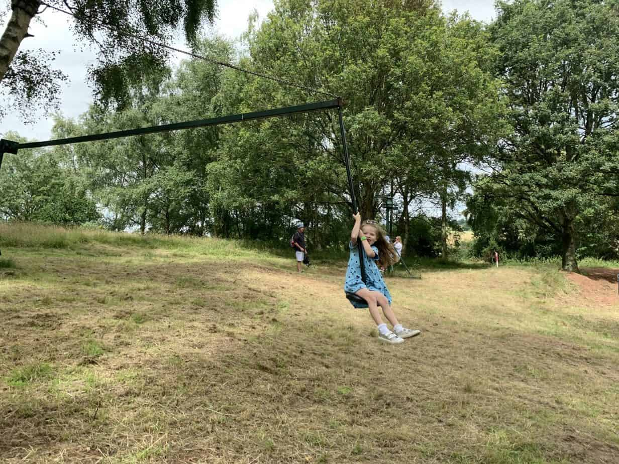 swing at habberley trail lots of fun
