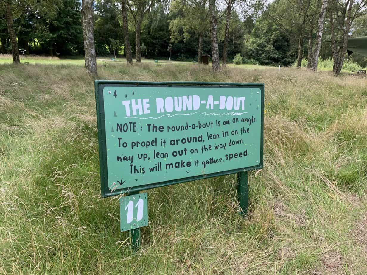 challenge signs situation around habberley trail