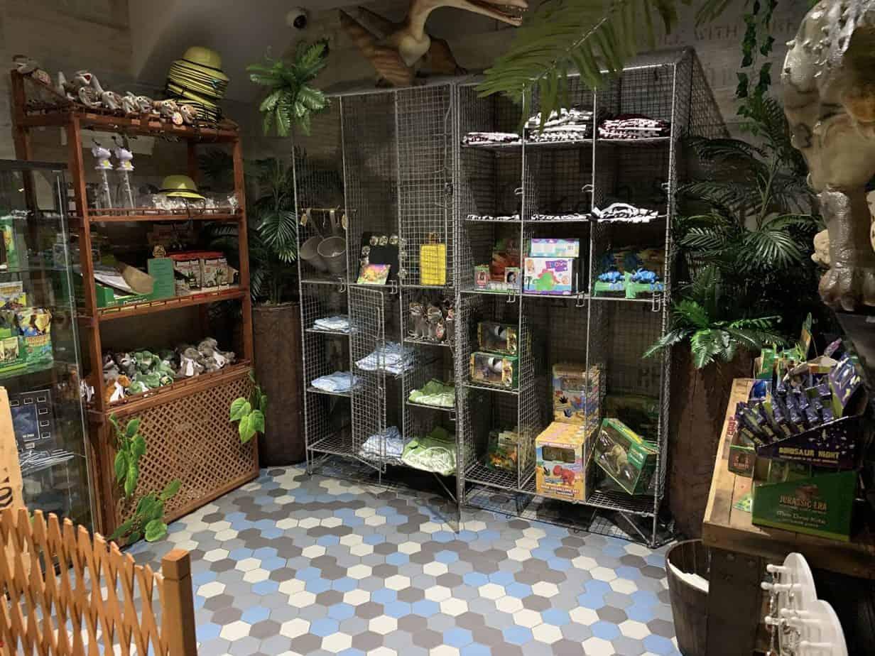 Jurassic Grill Shop inside the dinosaur restaurant
