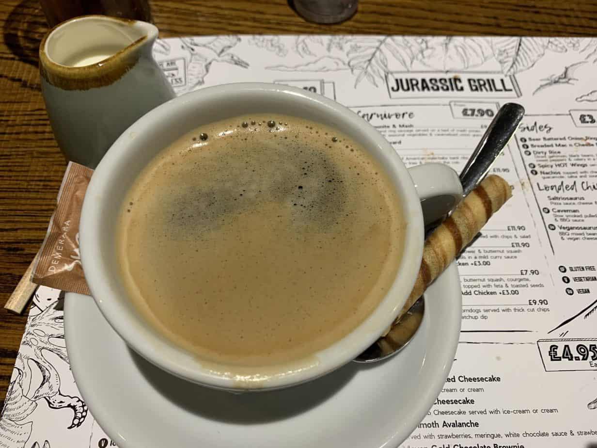 Coffee at Jurassic Grill
