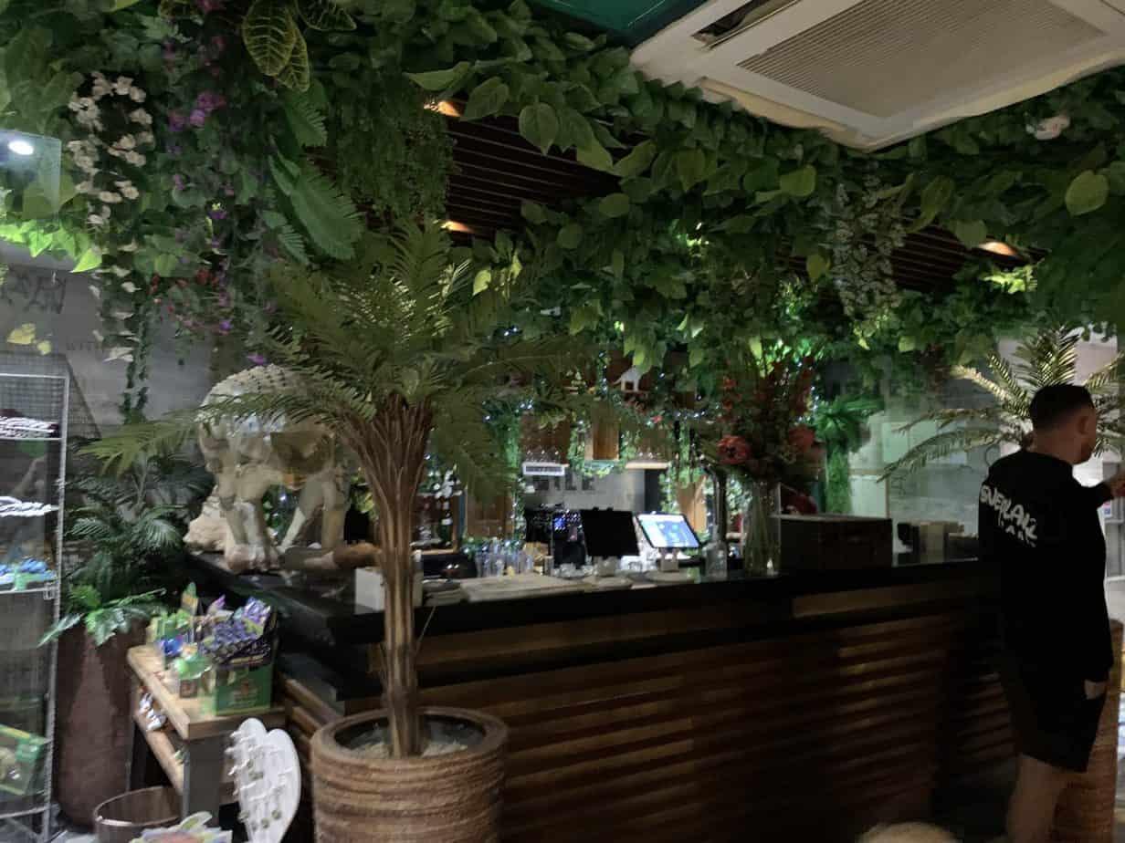 Bar area at Jurassic Grill