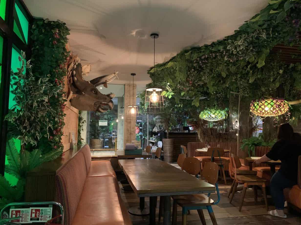 Jurassic Grill Restaurant Review interior