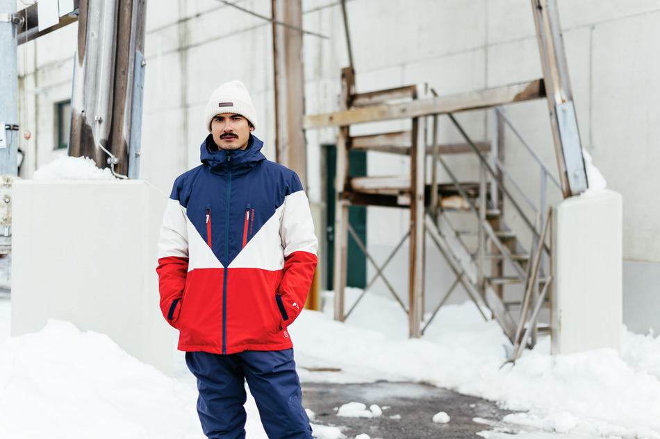 Mens Blake Ski Jacket in Navy and Red protest winter collection