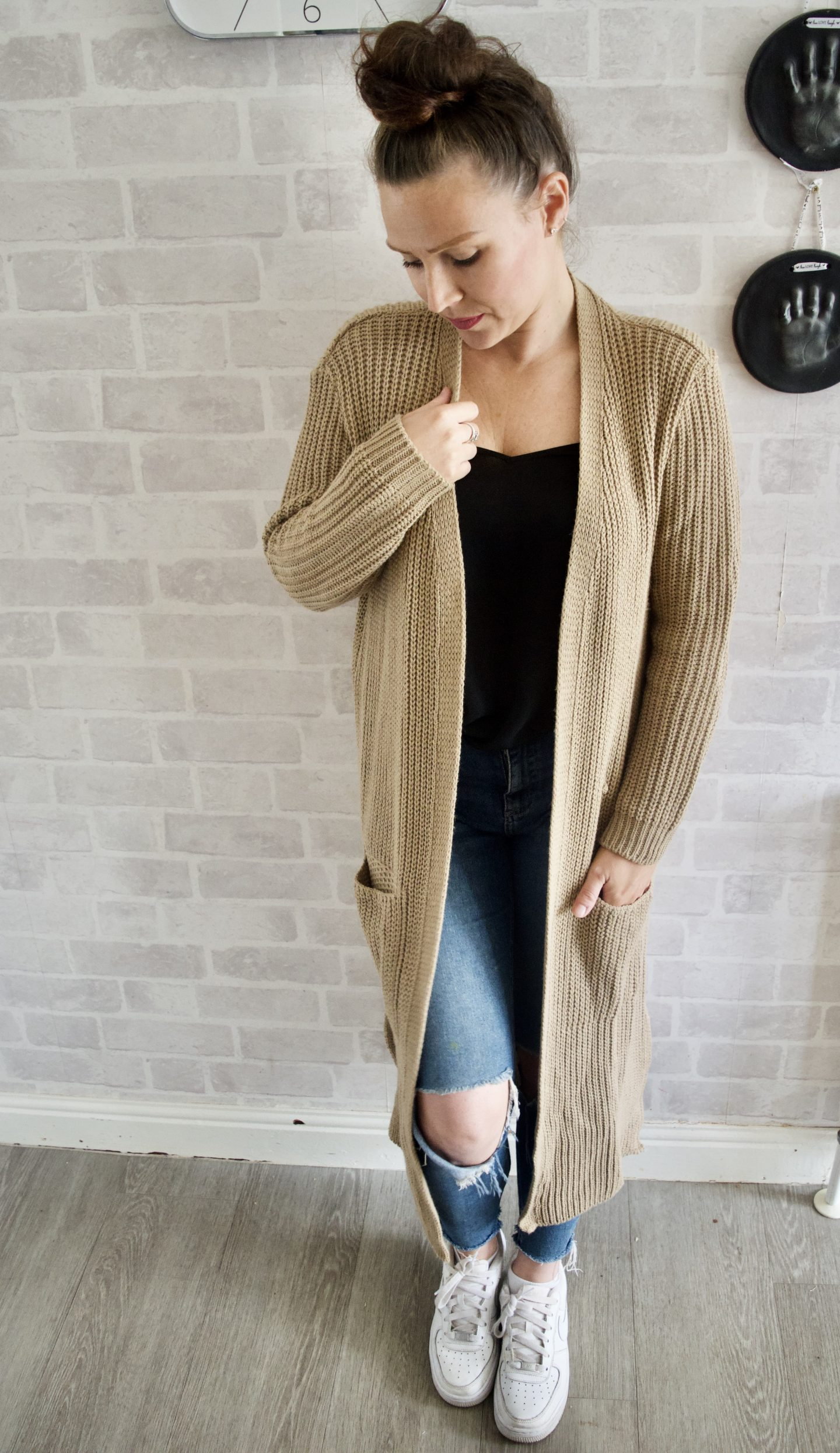 Long tan womens cardigan katch me clothing