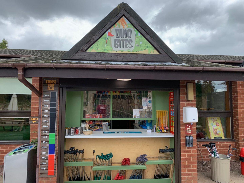 Dino Bites refreshment stand at Wolverhampton Adventure Golf