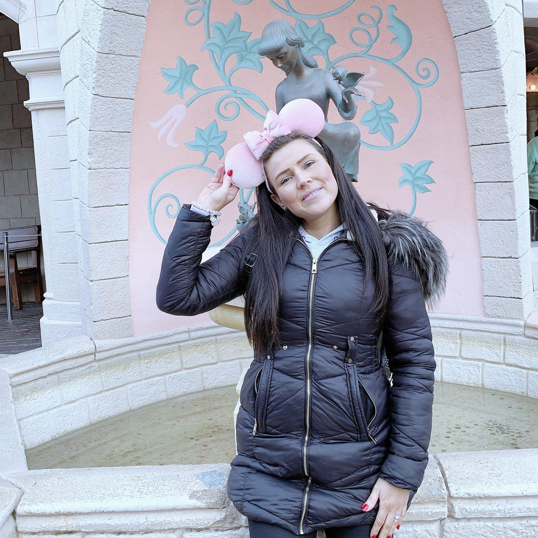 Keeping warm at Disneyland Paris in a padded winter coat