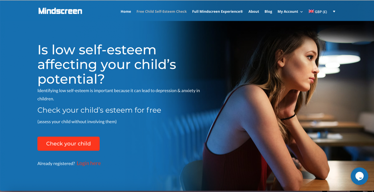 Mindscreen Free Self Esteem Check for your child