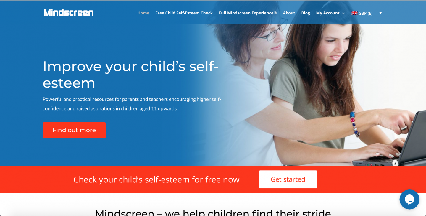 Supporting Your Child with building their self esteem with Mindscreen