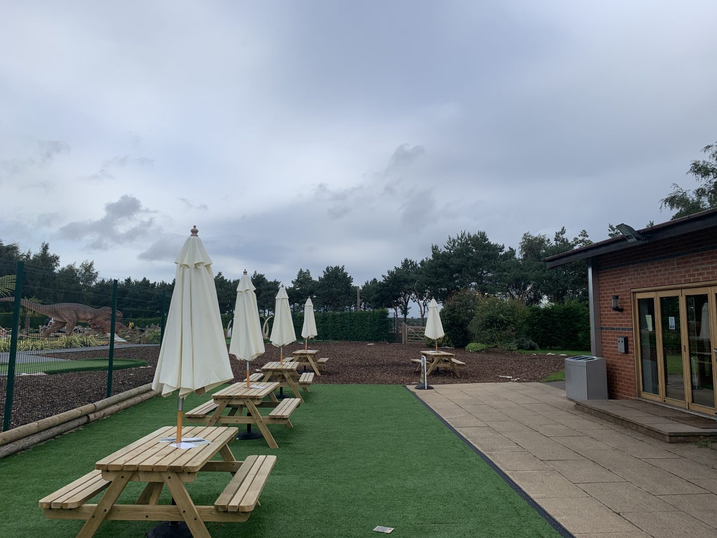 Seating area at Wolverhampton Adventure Golf