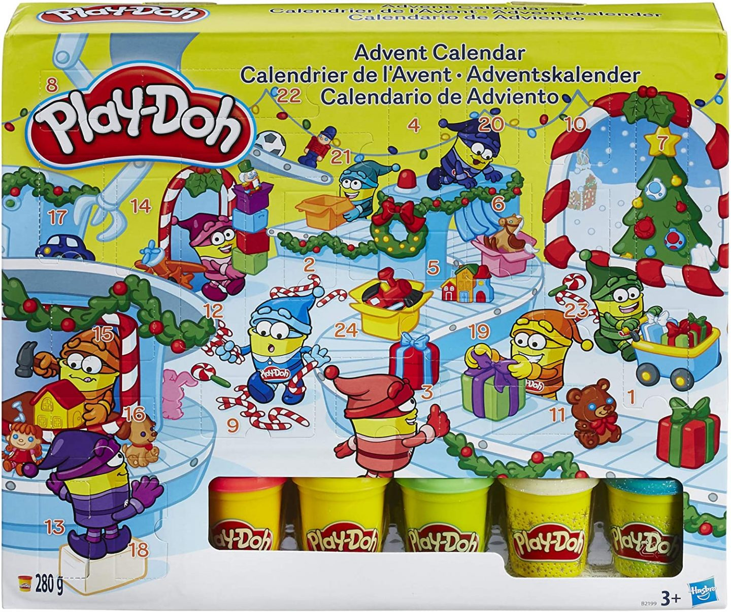 Play doh advent calendar is on our kist of the best kids toy advent calendar top list!