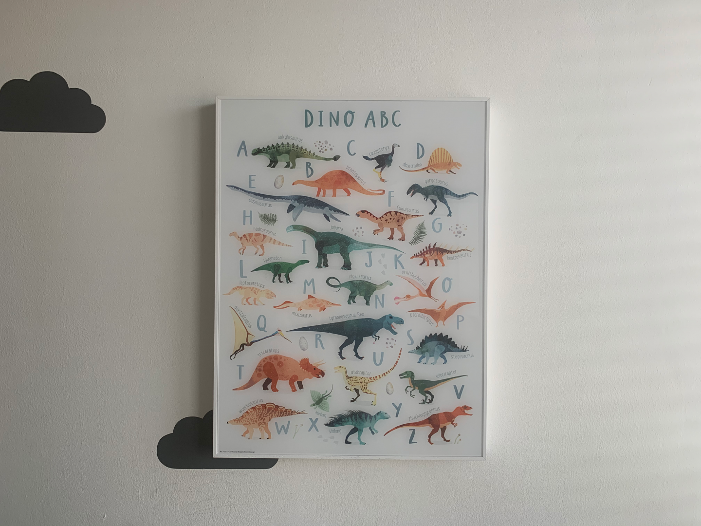 Dinosaur ABC gallery print for boys bedroom posterlounge