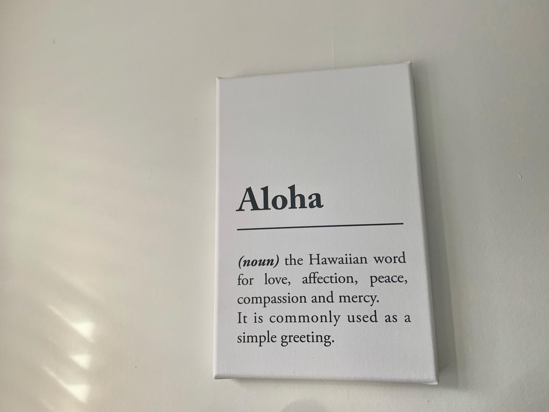 Aloha definition canva print posterlounge