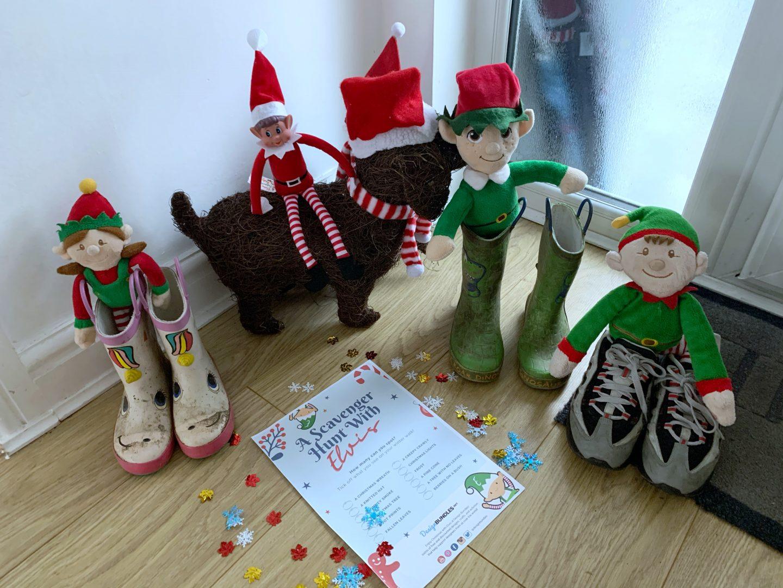 scavenger hunt by design bundles as an easy elf on a shelf idea
