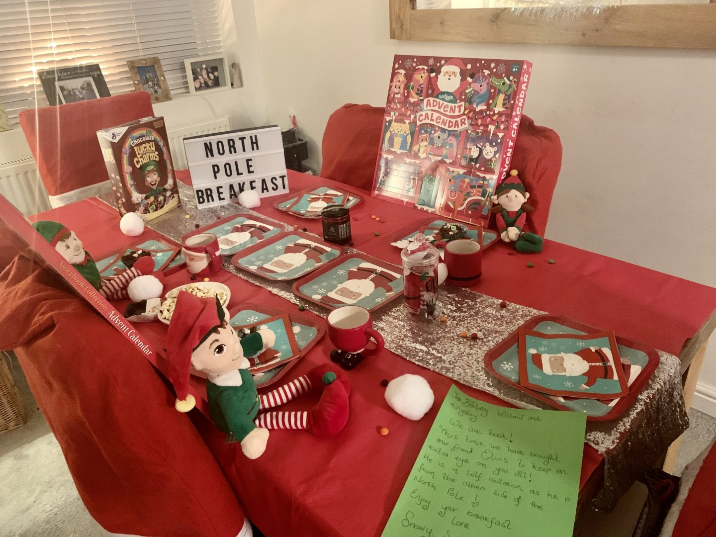 North Pole Breakfast ideas festive table wear