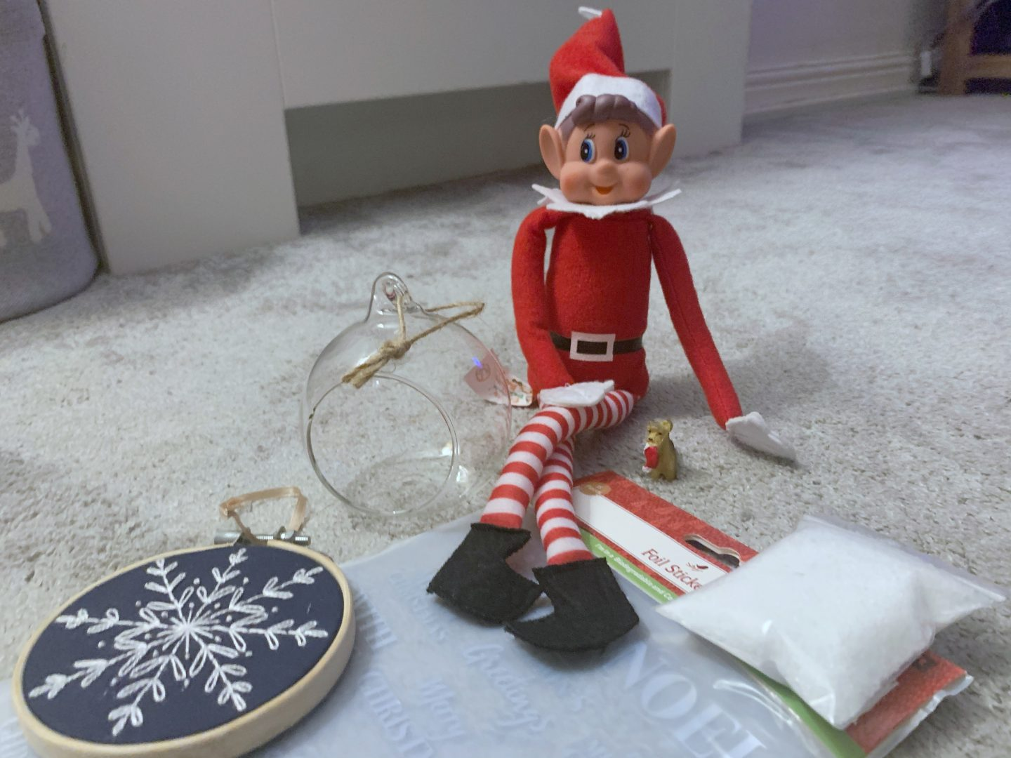 Decorating bauble kit for elf on a shelf