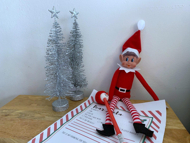 Santa letter simple elf on a shelf idea