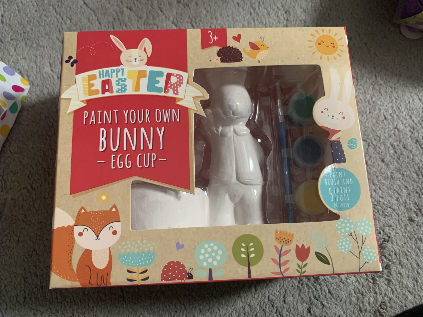Paint your own bunny egg cup