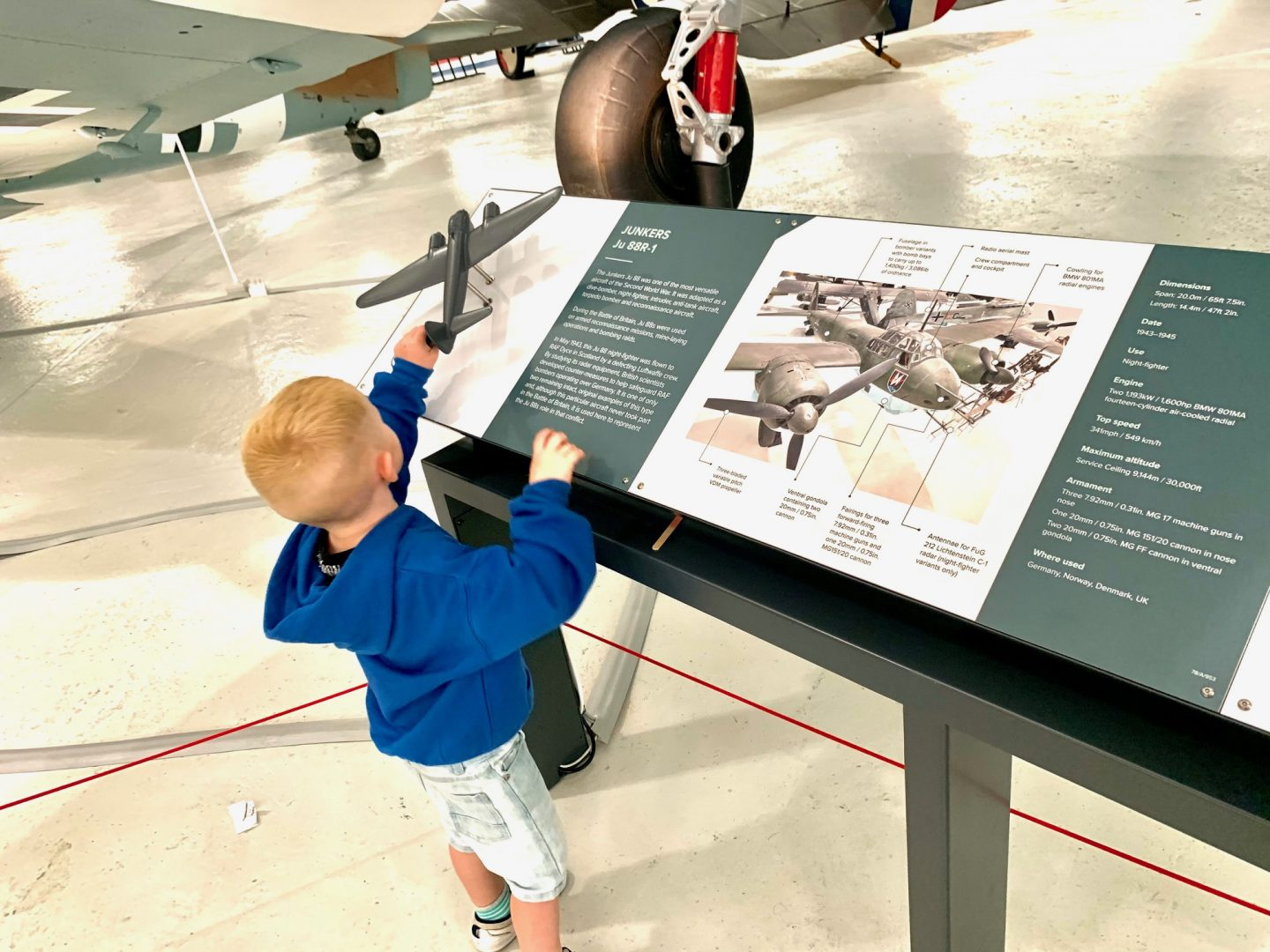 Signs and information at Cosford RAF Air Museum Review