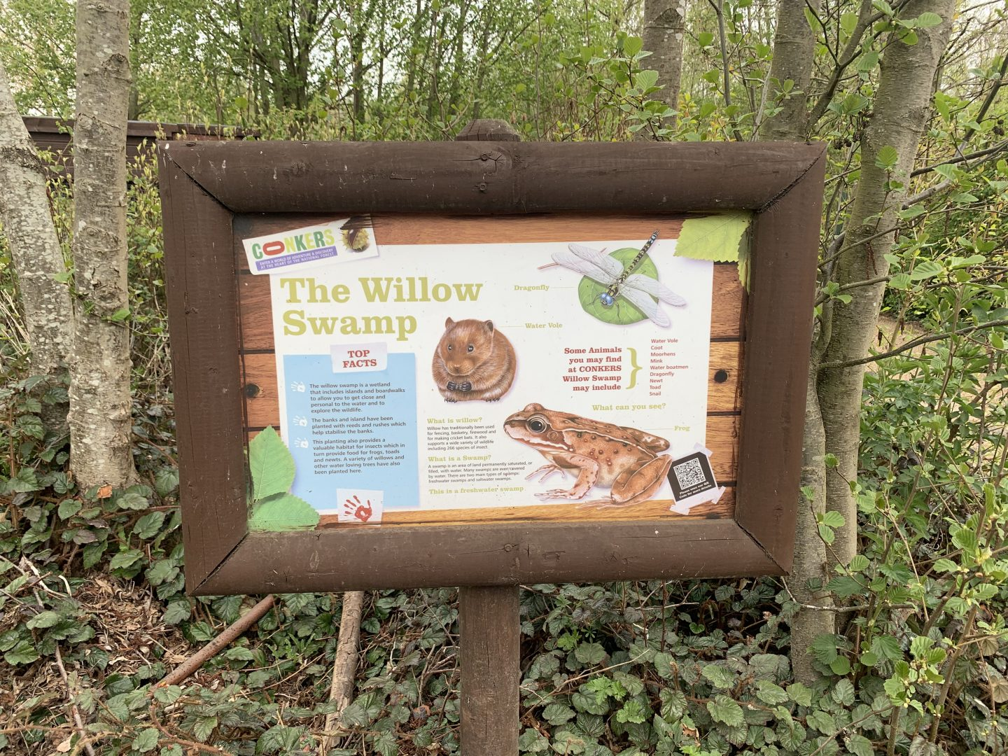 Swamp sign at Conkers