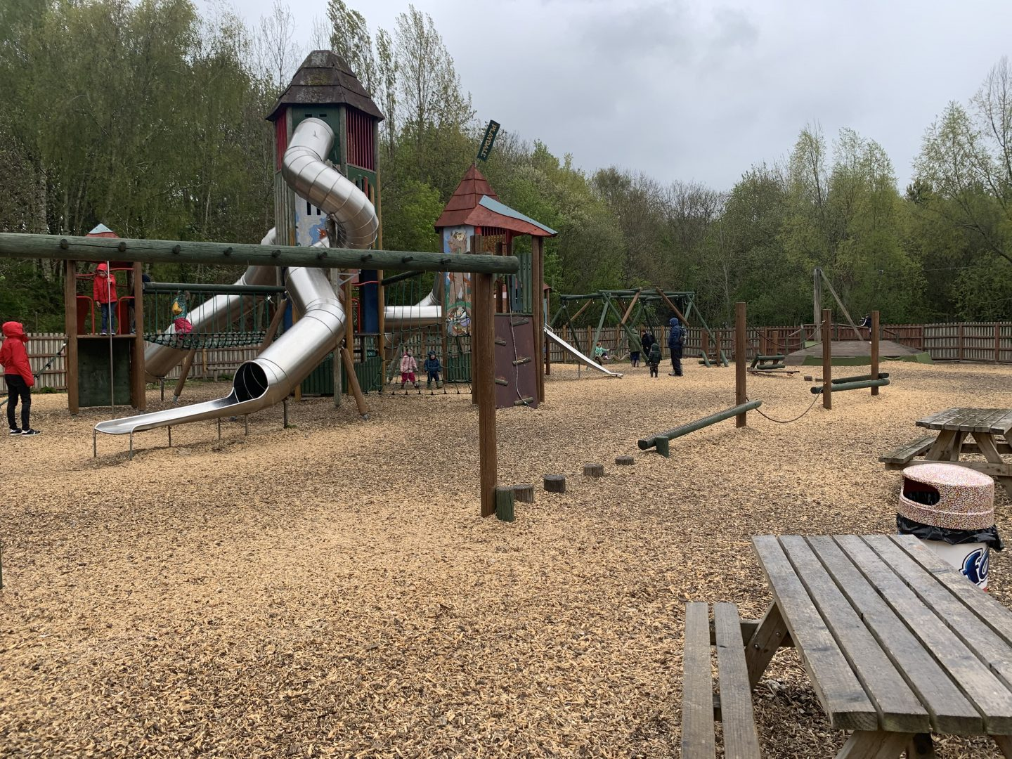 Adventure play area at Waterside Conkers