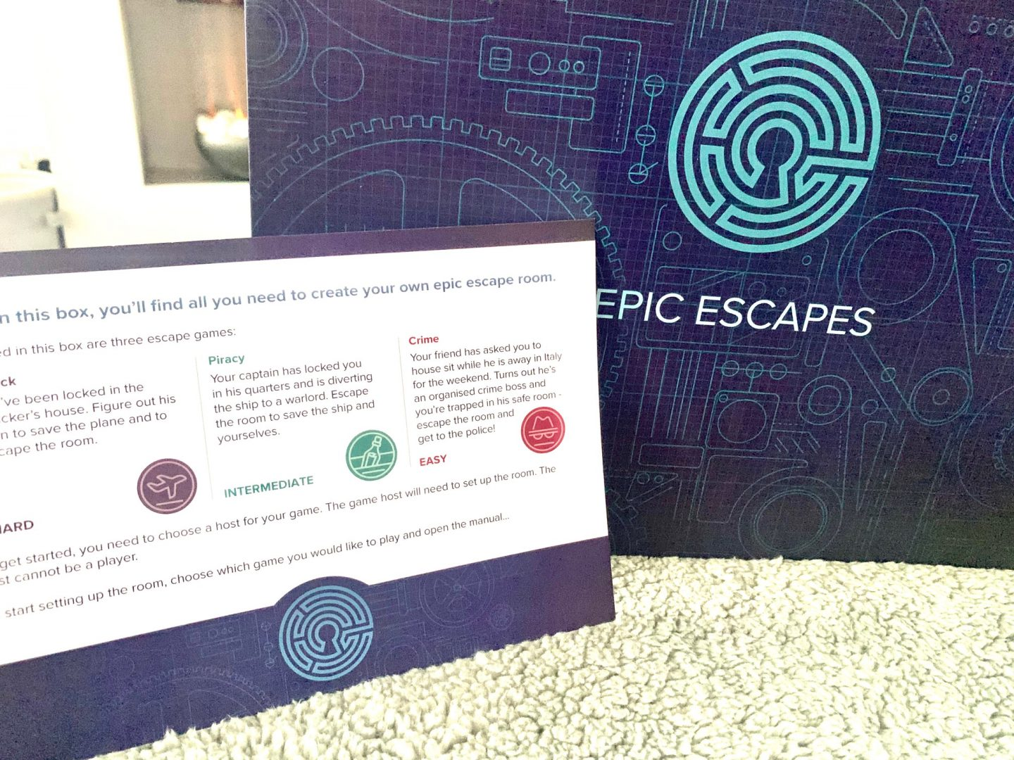 Win a 3 in 1 escape rooms in a box by epic games