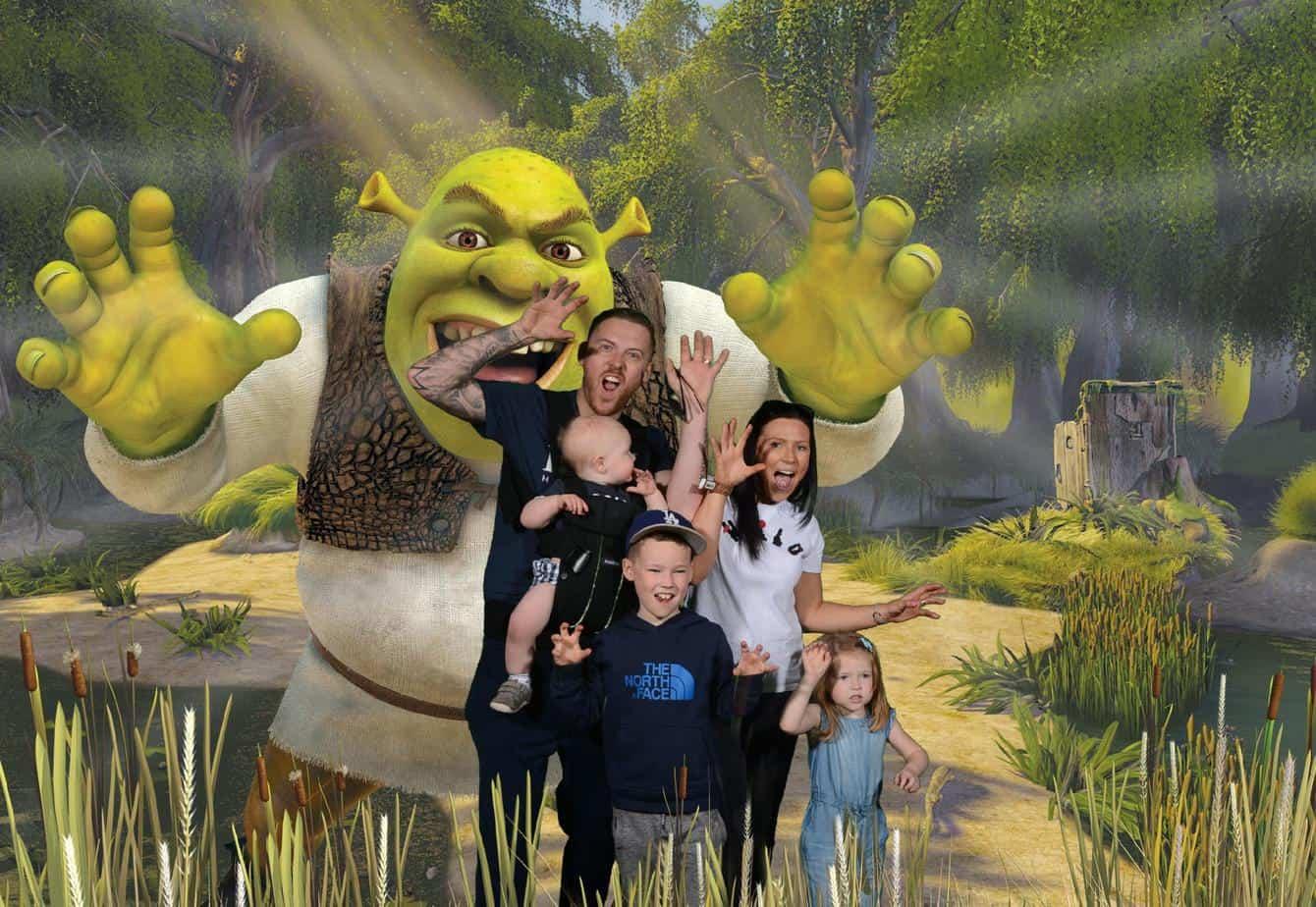 family visit to Shrek's Advenutre